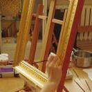 <p>wykonanie końcowej dekoracji malarskiej na uprzednio zaprojektowanej,<br />wykonanej i pozłoconej ramie</p>