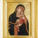 <p>Lico obrazu Matka Boska z Dzieciątkiem po konserwacji i umieszczeniu w nowej ramie</p>