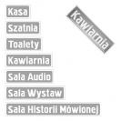 <p>Projekt tabliczek informacyjnych,<br />docelowo &ndash; metal emaliowany</p>