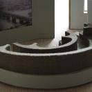 <p>I piętro &ndash; sala audio &ndash; siedzisko do oglądania projekcji<br />makieta, skala 1:20</p>