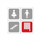 <p>Design for information plates: toilets, staircase, hydrant, emergency exit<br />ultimately on enamel metal</p>