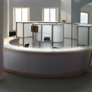 <p>Ground floor &ndash; main lobby &ndash; cloakroom/box offices<br />model at a scale of 1:20</p>