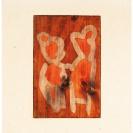 <p>Osoby<br />33x26 cm, obiekt: batik, drewno, filc / 2011</p>