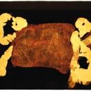 <p>Kamień<br />26,5x38 cm, batik, papier / 2011</p>